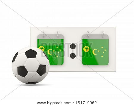 Flag Of Cocos Islands, Football With Scoreboard