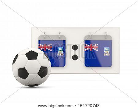 Flag Of Falkland Islands, Football With Scoreboard