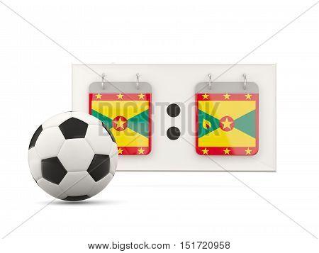 Flag Of Grenada, Football With Scoreboard