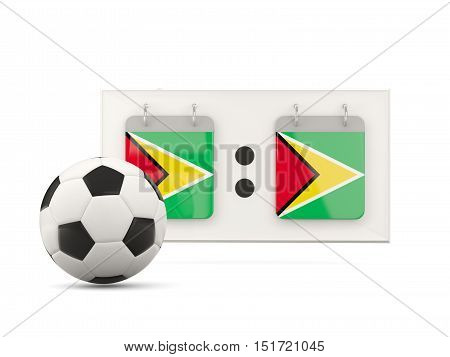 Flag Of Guyana, Football With Scoreboard