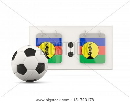 Flag Of New Caledonia, Football With Scoreboard