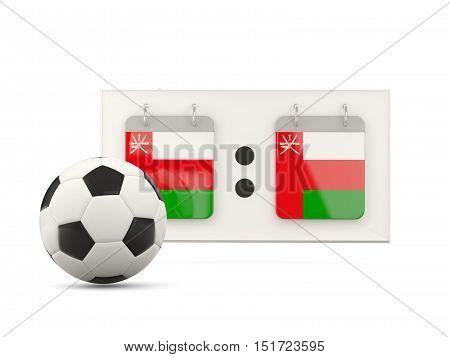 Flag Of Oman, Football With Scoreboard