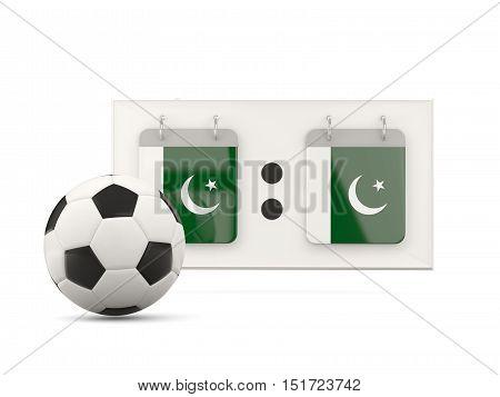 Flag Of Pakistan, Football With Scoreboard