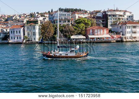 Luxury residentials on Bosphorus in Istambul Turkey