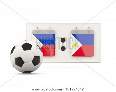 Flag Of Philippines, Football With Scoreboard