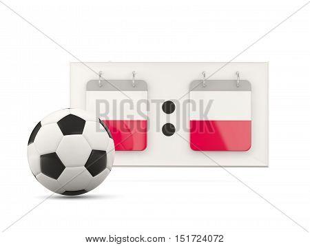 Flag Of Poland, Football With Scoreboard