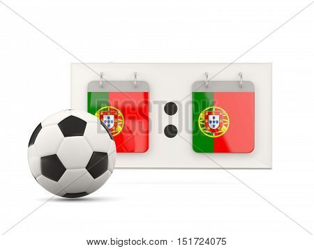 Flag Of Portugal, Football With Scoreboard