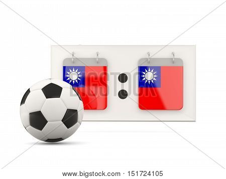 Flag Of Republic Of China, Football With Scoreboard