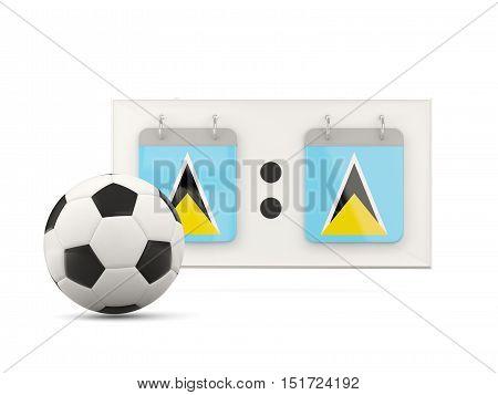 Flag Of Saint Lucia, Football With Scoreboard