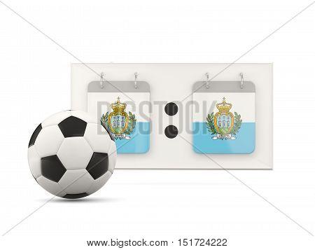 Flag Of San Marino, Football With Scoreboard