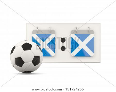 Flag Of Scotland, Football With Scoreboard