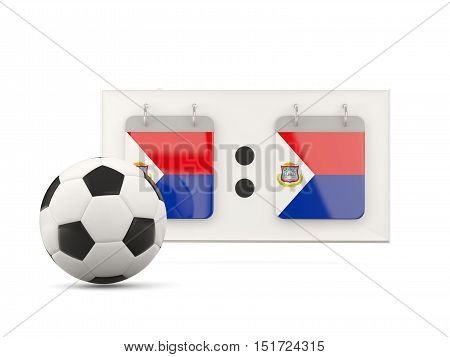 Flag Of Sint Maarten, Football With Scoreboard