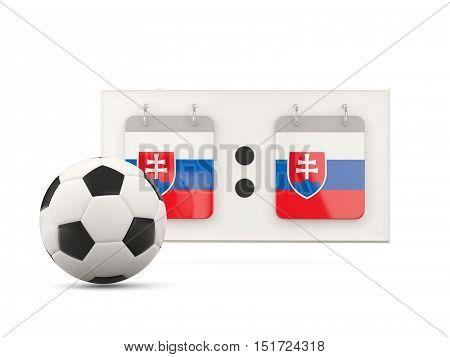 Flag Of Slovakia, Football With Scoreboard