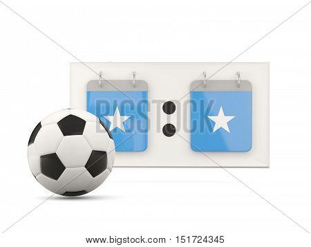 Flag Of Somalia, Football With Scoreboard