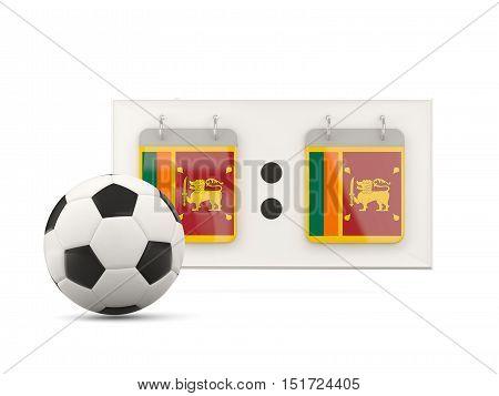 Flag Of Sri Lanka, Football With Scoreboard