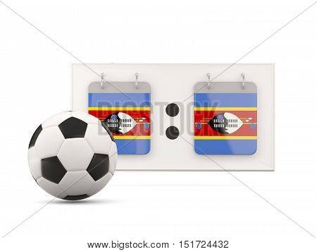 Flag Of Swaziland, Football With Scoreboard