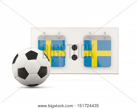 Flag Of Sweden, Football With Scoreboard