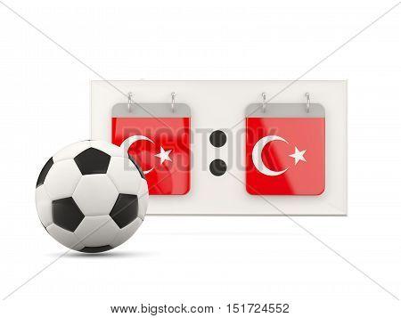 Flag Of Turkey, Football With Scoreboard