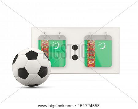 Flag Of Turkmenistan, Football With Scoreboard