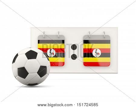 Flag Of Uganda, Football With Scoreboard