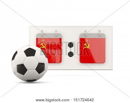 Flag Of Ussr, Football With Scoreboard
