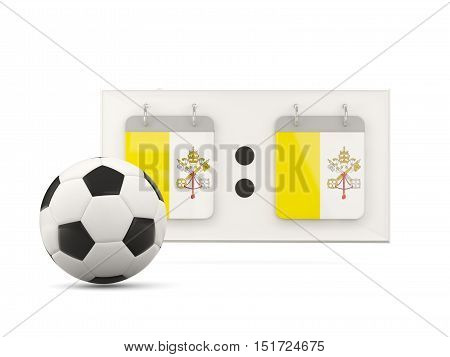 Flag Of Vatican City, Football With Scoreboard