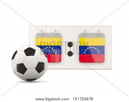 Flag Of Venezuela, Football With Scoreboard