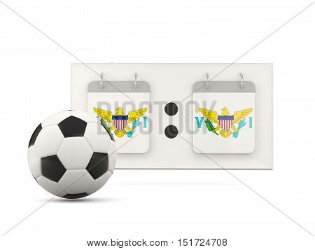 Flag Of Virgin Islands Us, Football With Scoreboard