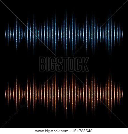 Vector equalizer sound waves. Music Digital Equalizer.