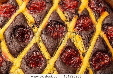 fruit cake  texture, creamy, birthday, background closeup