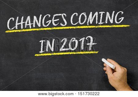 Changes Coming in 2017 written on a blackboard