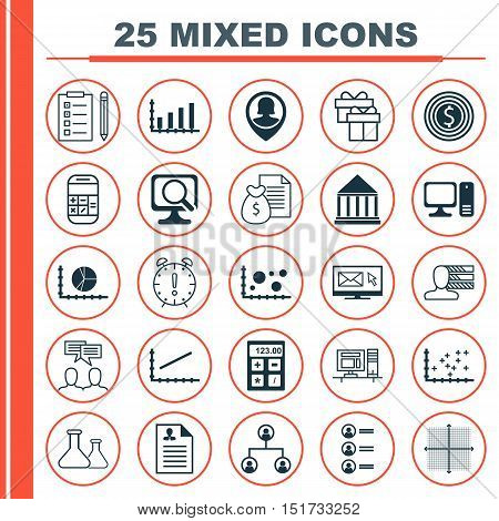 Set Of 25 Universal Icons On Tree Structure, Chemical, Education Center And More Topics. Vector Icon