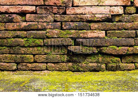Texture Of Red Old Brick Wall