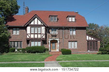 Large Old English Tudor Style Home