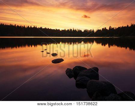 Lac de Servieres, Auvergne, France