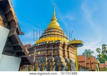 Wat Phra That Lampang Luang temple in Lampang, Thailand.