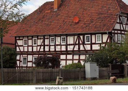 Historic half-timbered house of Herleshausen in Nordhessen