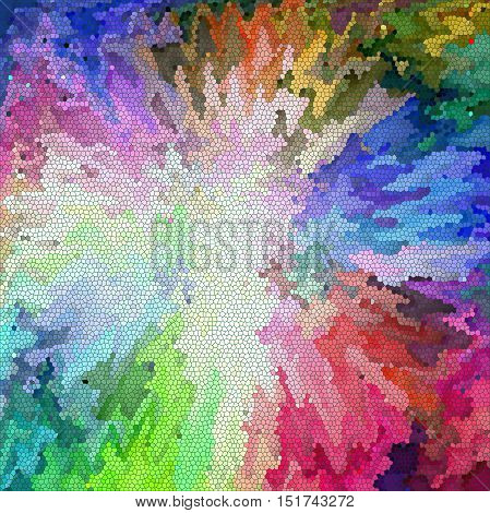 Abstract coloring background of the color harmonies gradient with visual ligthing,wave,pinch,stained glass and twirl effects