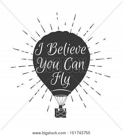 Hot Air Balloon isolated. Vector Illustration. Air Hot Balloon. Isolated