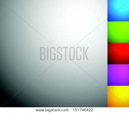 Set Of 6 Shaded, Illuminated Backgrounds, Backdrops In Square Format
