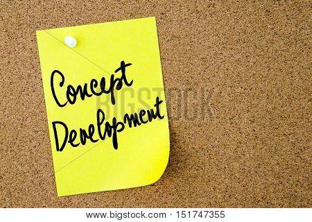 Concept Development Text Written On Yellow Paper Note