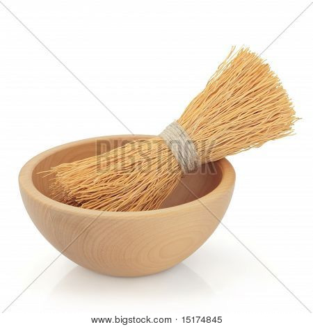 Japanese Bowl And Bamboo Whisk