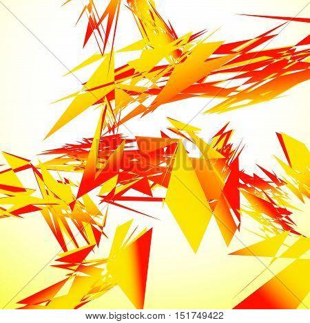 Abstract Shattered Digital Art With Random Edgy Shards. Digital Art Abstract Illustration