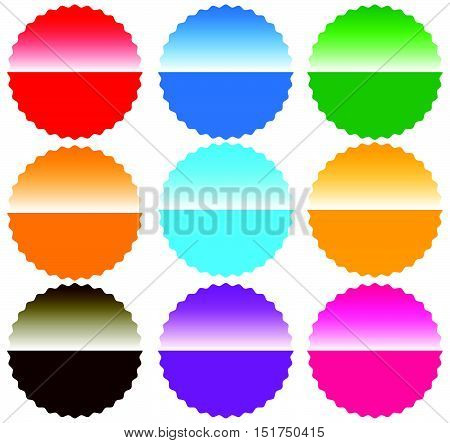 Button / Badge / Pin / Tag / Label Shapes, Elements