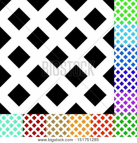 Grid, Mesh, Squares Pattern In 12 Colors
