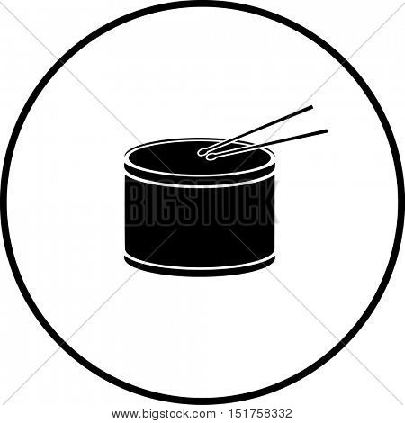 drum with drumsticks symbol