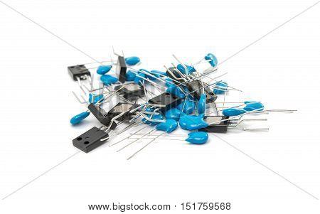 electronic element  Resistors isolated on white background