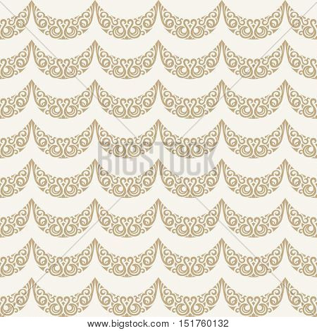 Seamless islamic gold pattern. Vintage floral background. Vector islamic royal gold pattern. Oriental design and baroque wallpaper