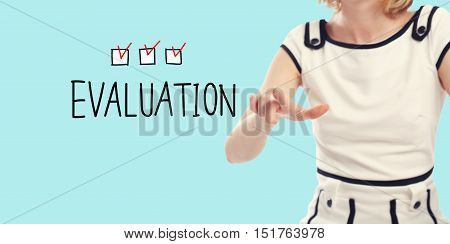 Evaluation Concept With Young Woman