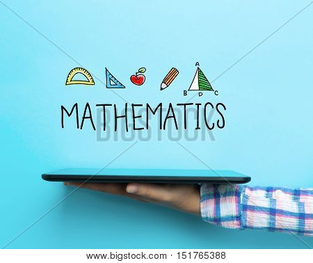 Mathematics Concept With A Tablet